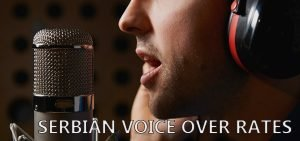 Serbian voiceover cost per minte and studio time
