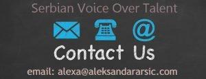 Contact Serbian voice over talent with Broadcast studio. Srbija snimanje voiceover